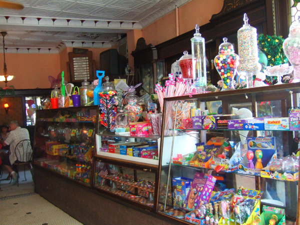 "The candy counter.  The interior of Eddie's is ""…preserved in ..."