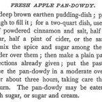 A Revolutionary Menu: Apple Pan-Dowdy