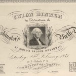 Menus: Washington&#8217;s B-day at Niblo&#8217;s Saloon, Broadway